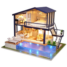 Diy 3D Wooden Mini Dollhouse Time Apartment Doll House Furniture Educational Toys For Children Love Gift