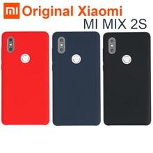 Original Xiaomi Mi MIX 2S Case Cover Genuine Silicone + soft fiber Durable comfortable shockproof shell for Mi Mix 2X MIX2S 5.99