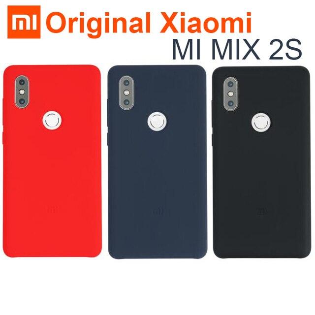 Originele Xiao mi mi mi x 2 s CASE cover ECHT Silicone + Zachte Vezel duurzaam comfortabele shockproof Shell voor mi mi x 2X mi X2S 5.99