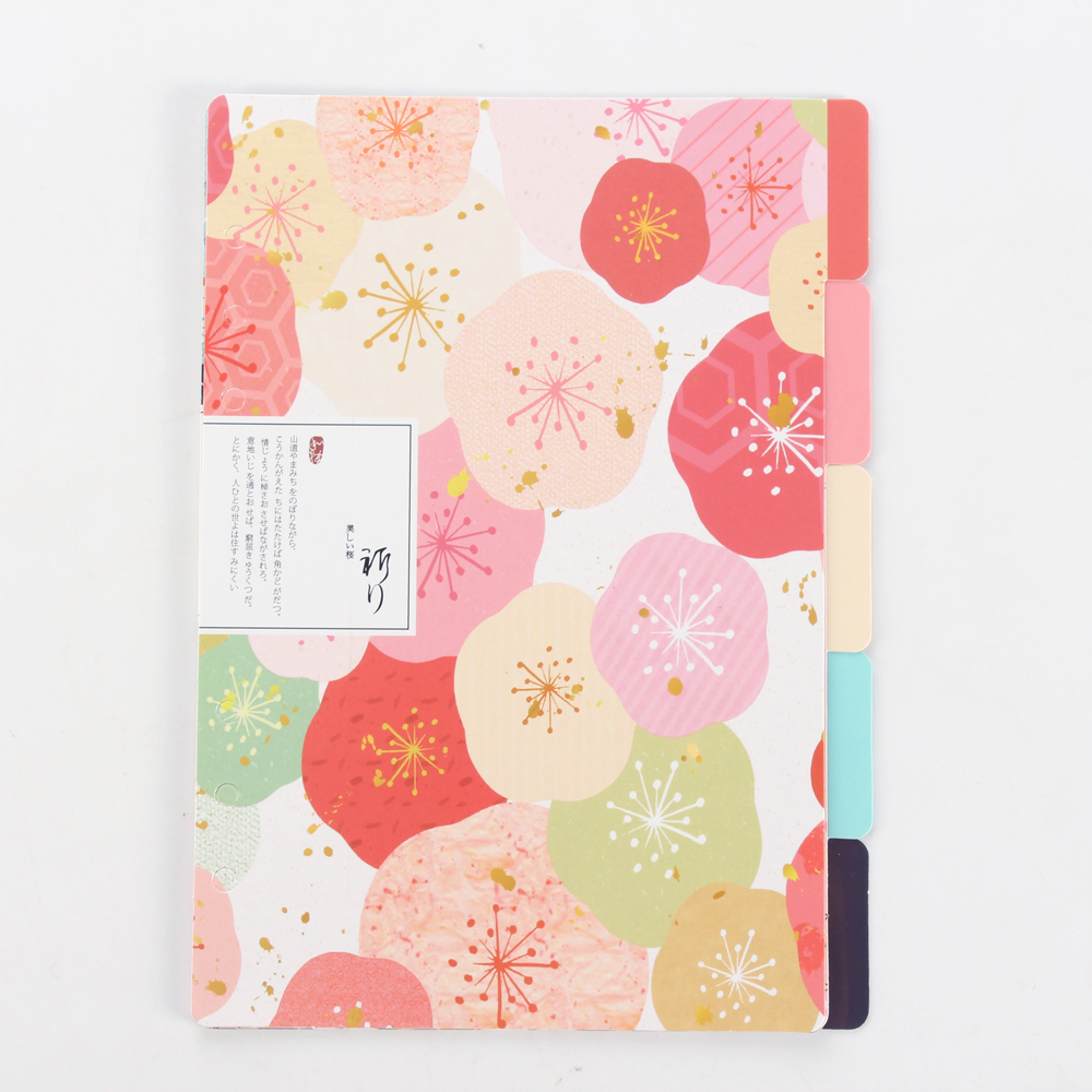 New cute cartoon flower serie index dividers for person diary planner,6 holes spiral notebooks index paper/separator pages A5 A6 цена