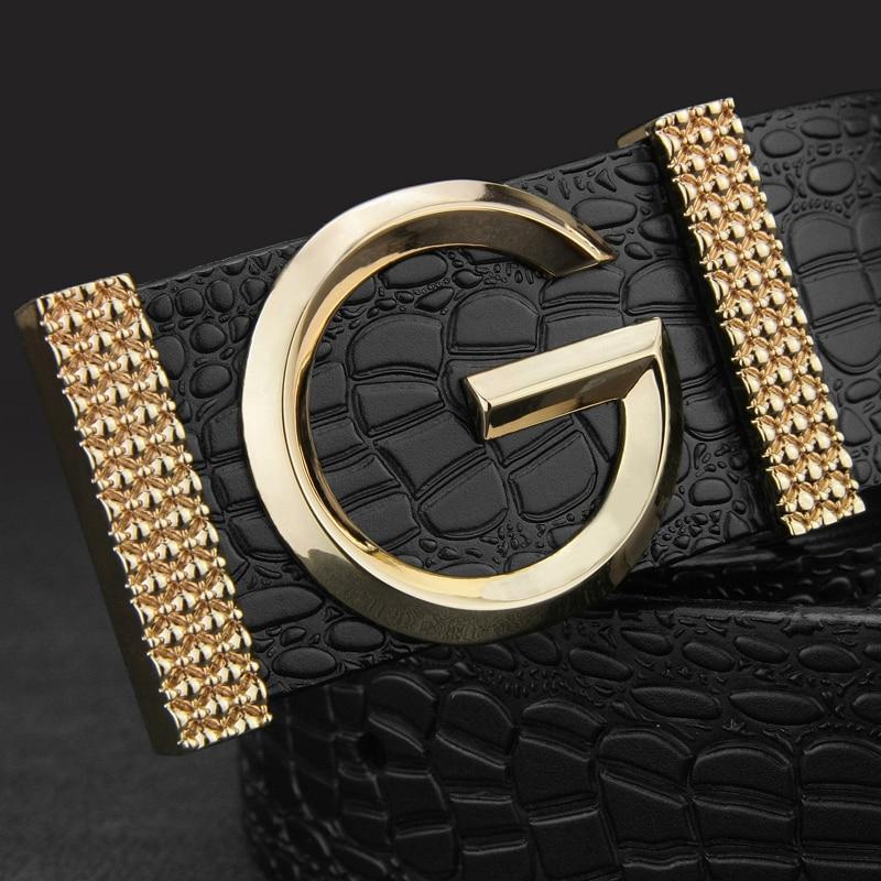 G Smooth button buckle metals B belts mens Leisure Waistband man genuine leather Casual hombre Waist Strap fashion Cowskin sash
