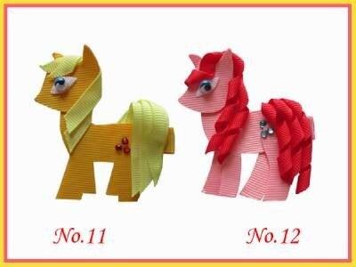60 pcs new style  princessBLESSING Good Girl Bug Clip Little Pony Minions Hippopotamus Robot Monster the hippopotamus