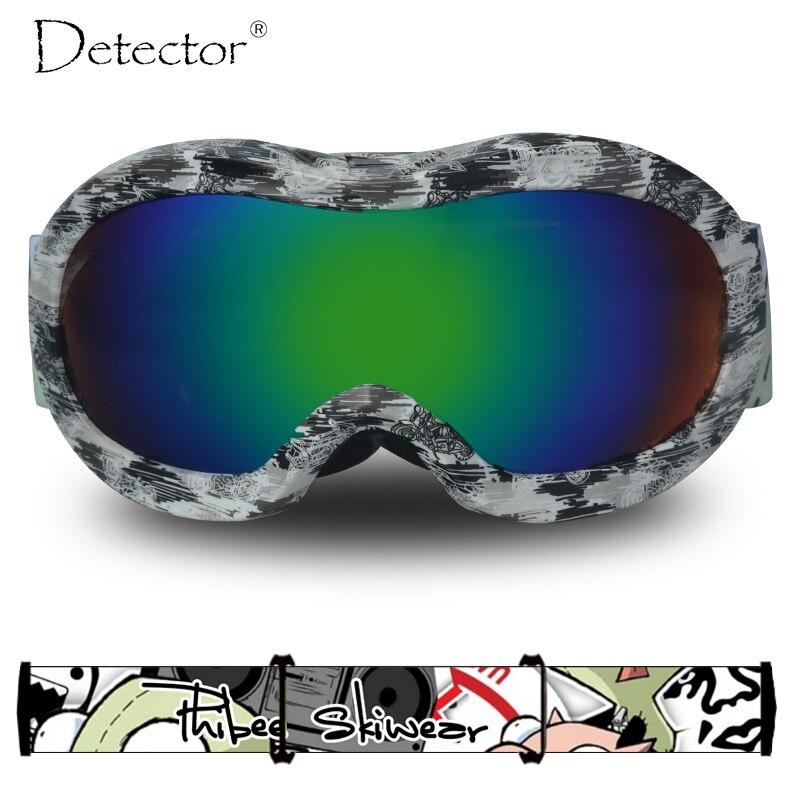 Detector de Crianças Das Meninas Dos Meninos Snowboard Óculos De Esqui  Duplo Anti-Fog Proteção UV400 Óculos De Esqui da Neve do Inverno Esportes  Googles 6ee20b453a