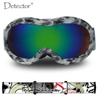 cc4a53e8b6 Detector de niños gafas de esquí niñas Snowboard Anti-niebla doble UV400  protección de esquí gafas de nieve de invierno deportes gafas