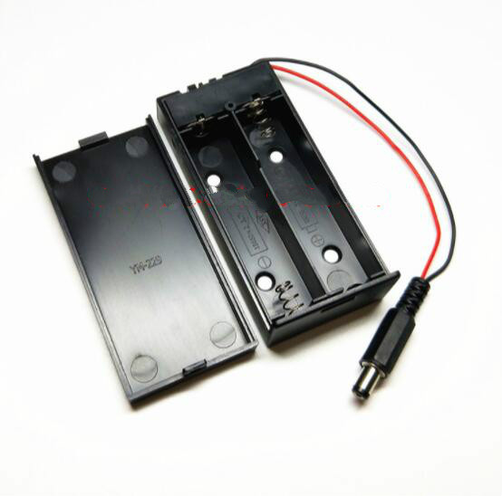 Mới Power Bank 18650 Pin Nhựa Pin Hộp Bảo Quản dành cho 2x18650 Có DC5.5 * 2.1mm cắm điện