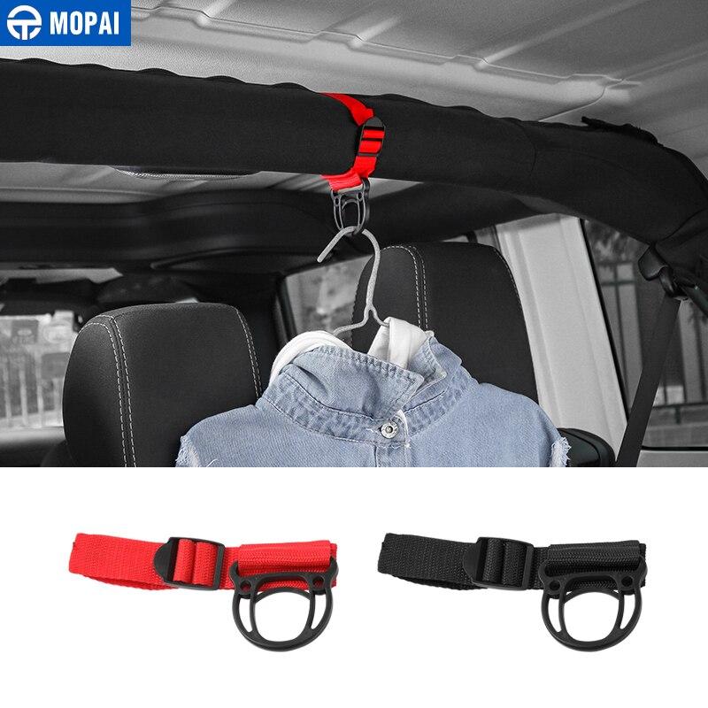 MOPAI voiture manteau cintre pour Jeep Wrangler TJ JK JL voiture manteau crochet support pour Jeep Wrangler 1997-2018 accessoires
