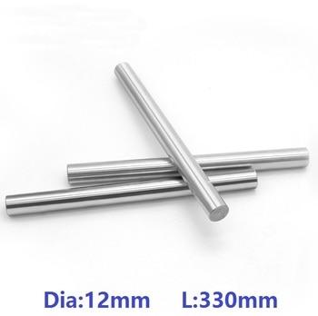 30pcs/lot 12mm linear shaft 330mm long 12x330mm chromed plated linear shaft hardened linear shaft rod bar CNC  steel rod