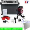 KaiTian 3D Laser Level with Slash Function and 360 Rotary Self Leveling/Outdoor 650nm Laser Beam Cross Line Level EU Lazer Level