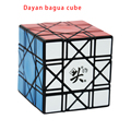 Nova chegada cubo mágico cubo de velocidade dayan bagua 6 eixos 8 patente preto/branco/stickerless/transparente orange velocidade de puzzle cubos