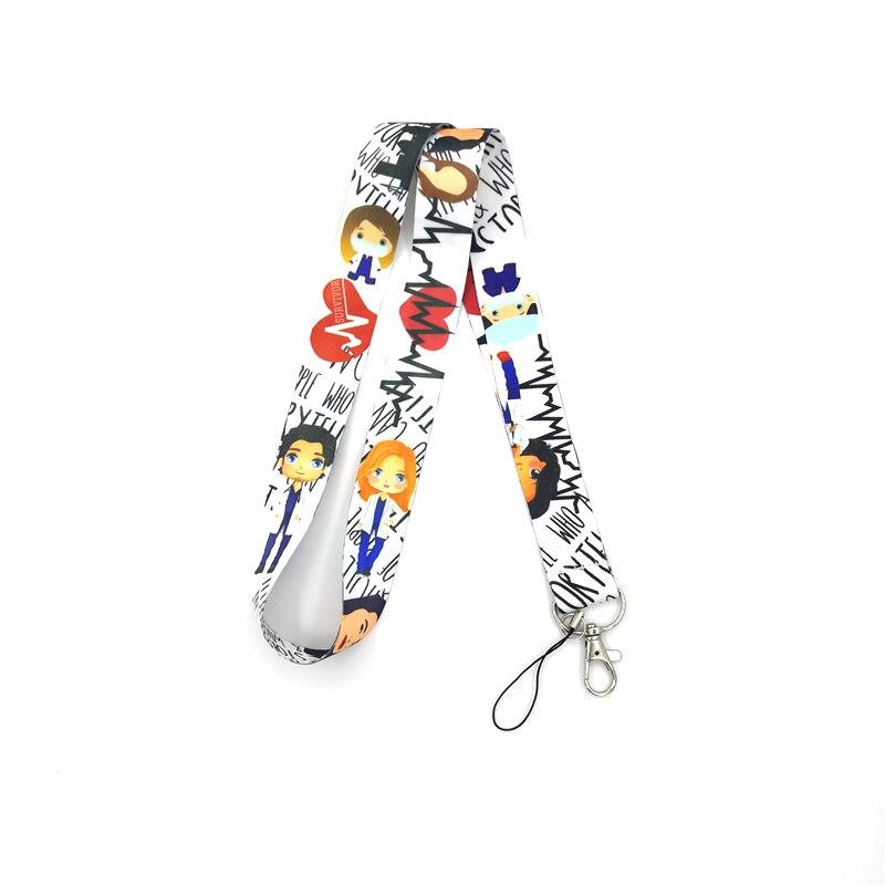 Regooly RE156 Grey's Anatomy Neck Keychain Necklace Anime Cartoon Neck Strap Lanyard ID Badge Holder Keychain Lanyards Presents