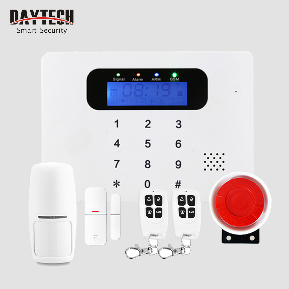 Wireless GSM & SMS Alarm Home Burglar Security System With Motion Detector Door Intruder Sensor APP Control IOS Android GSM03 wireless gsm pstn home alarm system android ios app control glass vibration sensor co detector 8218g