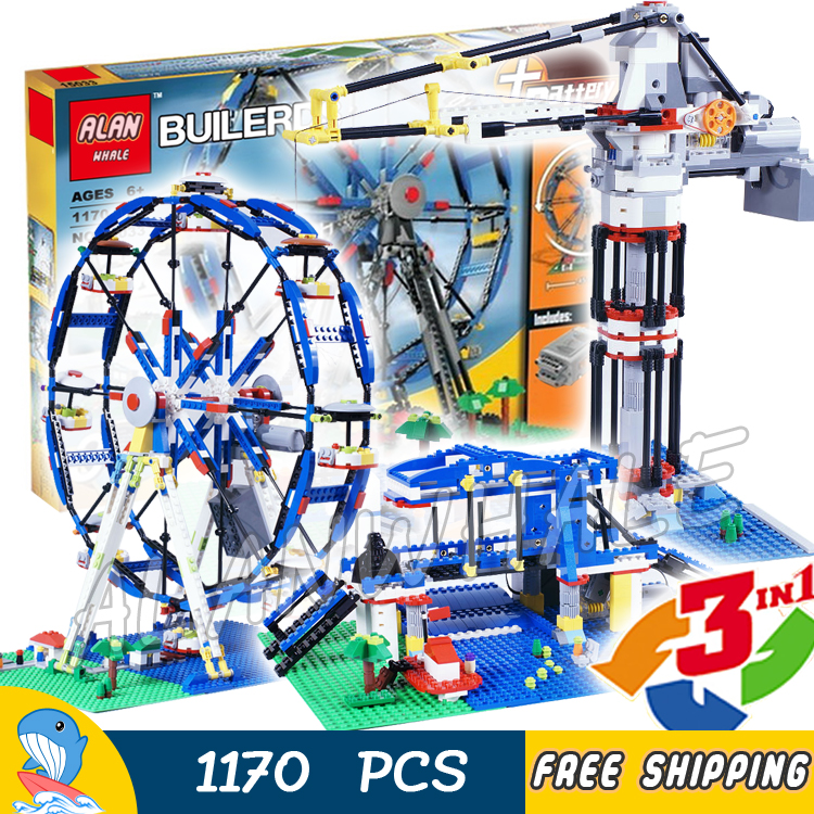 1170pcs 3in1 Creator Ferris Wheel 15033 DIY Model Building Blocks Toys Bricks Compatible with Lego china brand educational toys for children diy building blocks 3in1 mountain hut 31025 compatible with lego