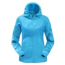 Vertvie Женская Мужская Солнцезащитная куртка от дождя Ветрозащитная тонкая спортивная куртка быстросохнущая куртка для бега однотонный кардиган с капюшоном