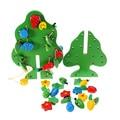 Зеленый Деревянный Нанизывая Бисер Игрушки Фрукты Деревянные Игрушки Ребенка Раннего Детства Обучающие Игрушки для Детей