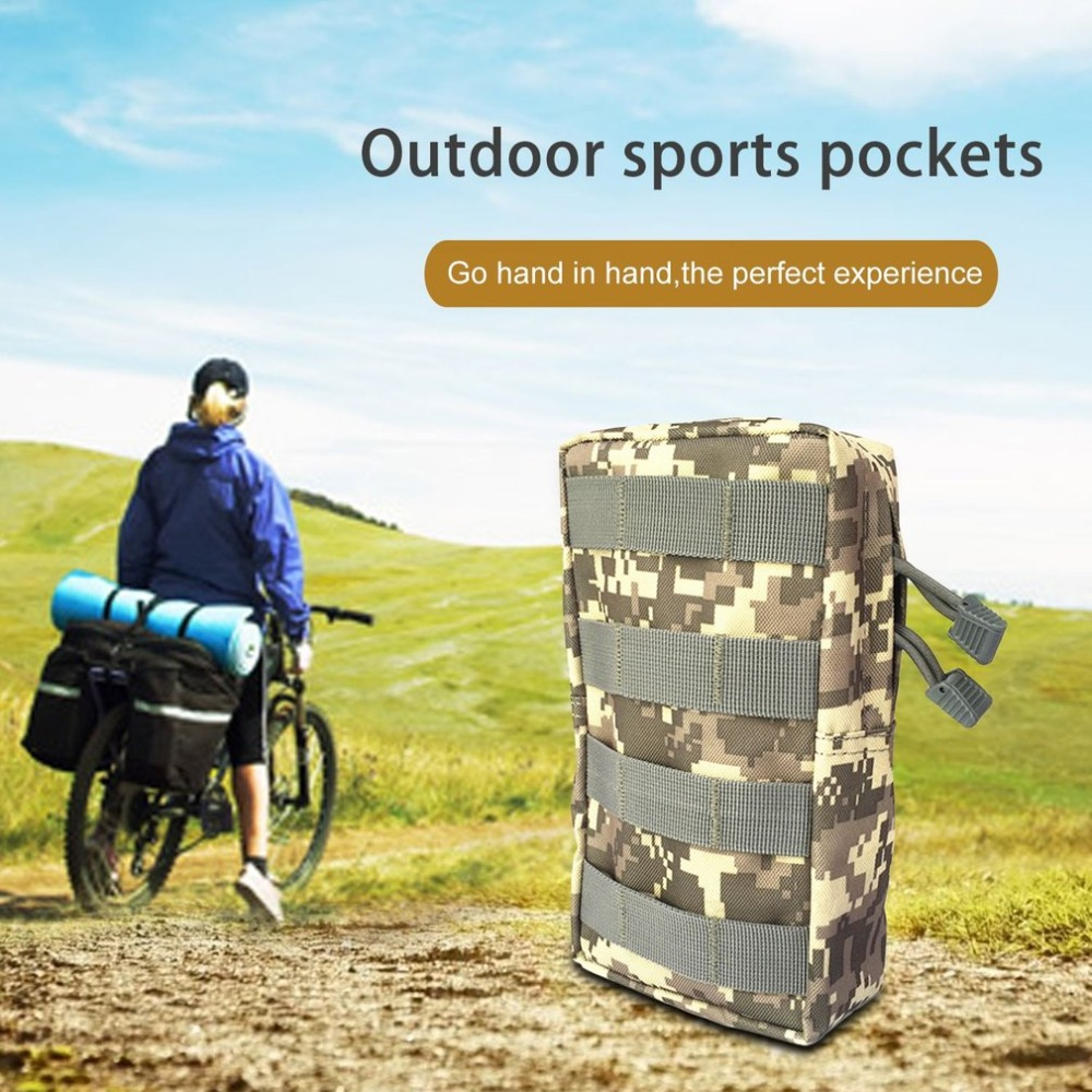 OUTAD Outdoor Sports Bag Mini Tool Kit Bag Zipper Waist Bag Large Tactical Pouch Key Phone Pack For Hiking Camping Travel стоимость