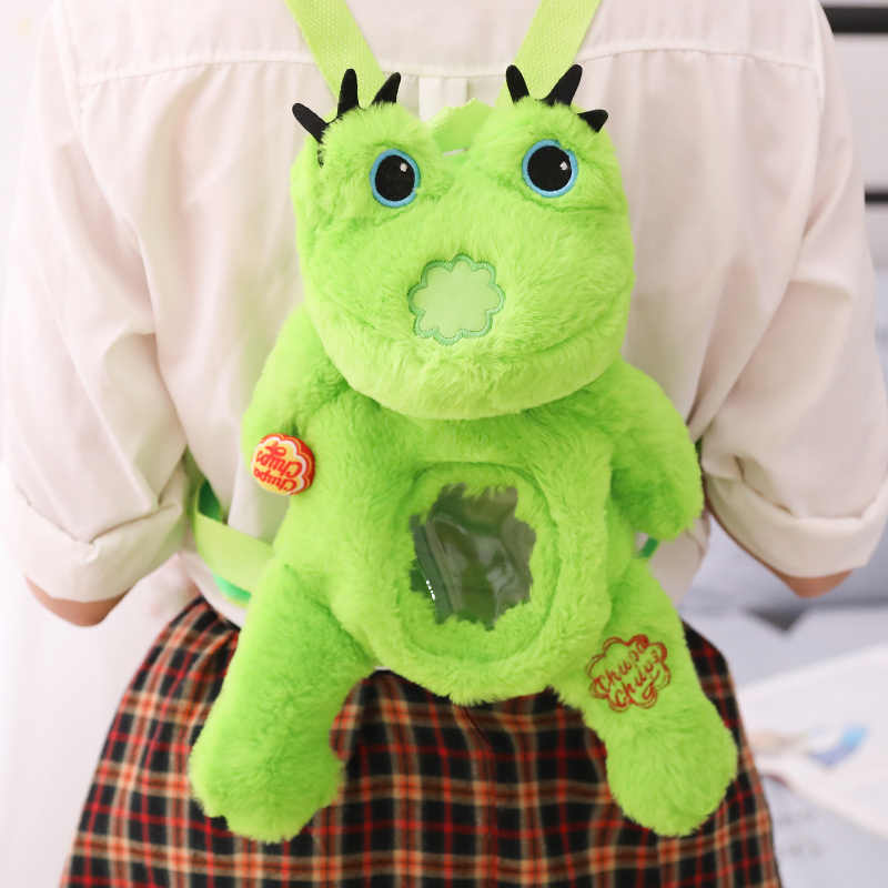 Cozfay Бесплатная доставка 1 шт. Kawaii Мультфильм Дети плюшевая лягушка Рюкзак игрушка мини плюшевая лягушка школьная сумка детские подарки