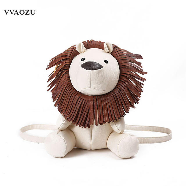 Animal Drole Conception 3d Lion Sac A Dos De Bande Dessinee Blanc