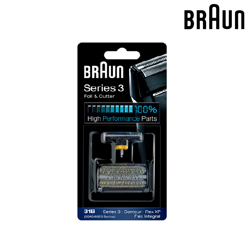 Braun 31B (5000/6000series) Foil & Cutter Replacement for Series 3 Shavers (5610 5612 old 350 360 370 380 390CC) braun 32s series 3 shaver foil and cutter head replacement cassette with microcomb 320 330 340 350cc 360 370 380 390cc 395cc