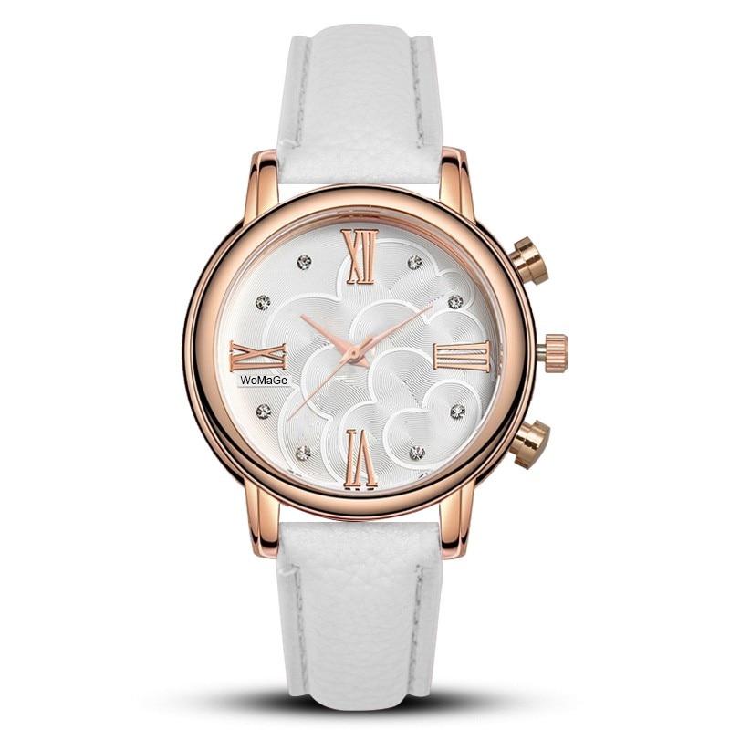Relojes de Woane Marca de lujo de lujo Reloj de cristal azul Reloj de hombre Reloj de cuero para hombre Reloj eratkekler relogio masculino montre