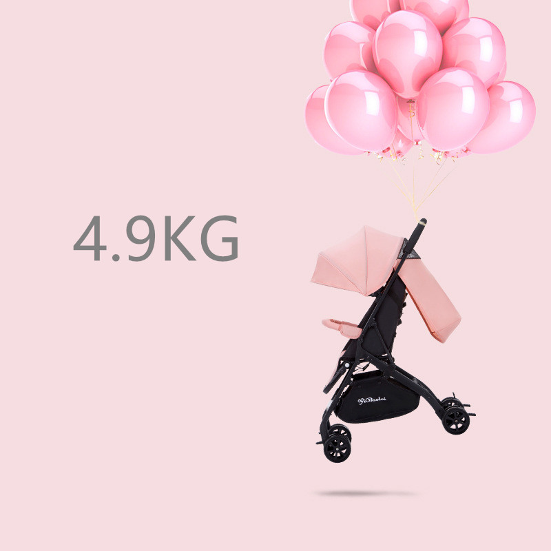 4.9Kg Lightweight Baby Stroller High Landscape Four-wheel Trolley Traveling Pram for Newborns Folding Portable Baby Stroller4.9Kg Lightweight Baby Stroller High Landscape Four-wheel Trolley Traveling Pram for Newborns Folding Portable Baby Stroller