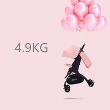 4.9Kg Lightweight Baby Stroller High Landscape Four-wheel Trolley Traveling Pram for Newborns Folding Portable Baby Stroller