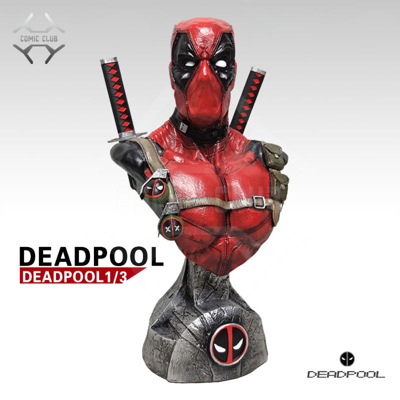 COMIC CLUB IN-STOCK 1/3 scale Deadpool GK resin bust figure toy for collection image