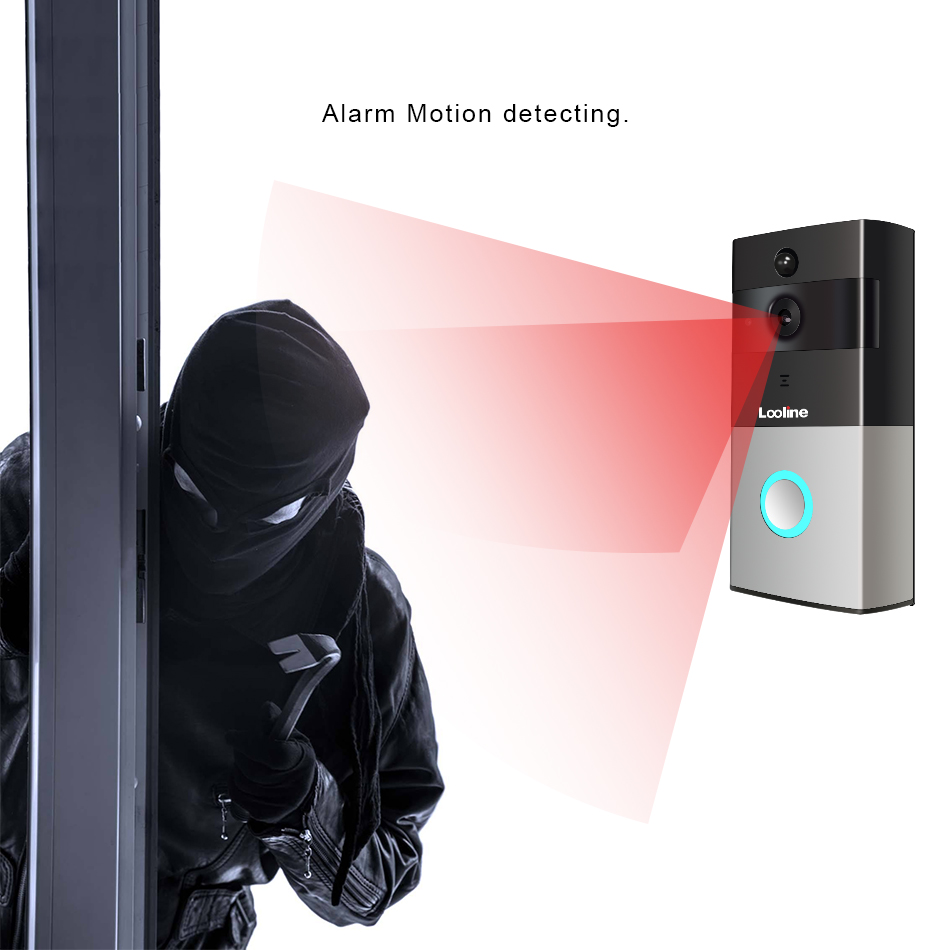 Looline Video Intercom Support Motion Detection Alarm Night Vision Video Record