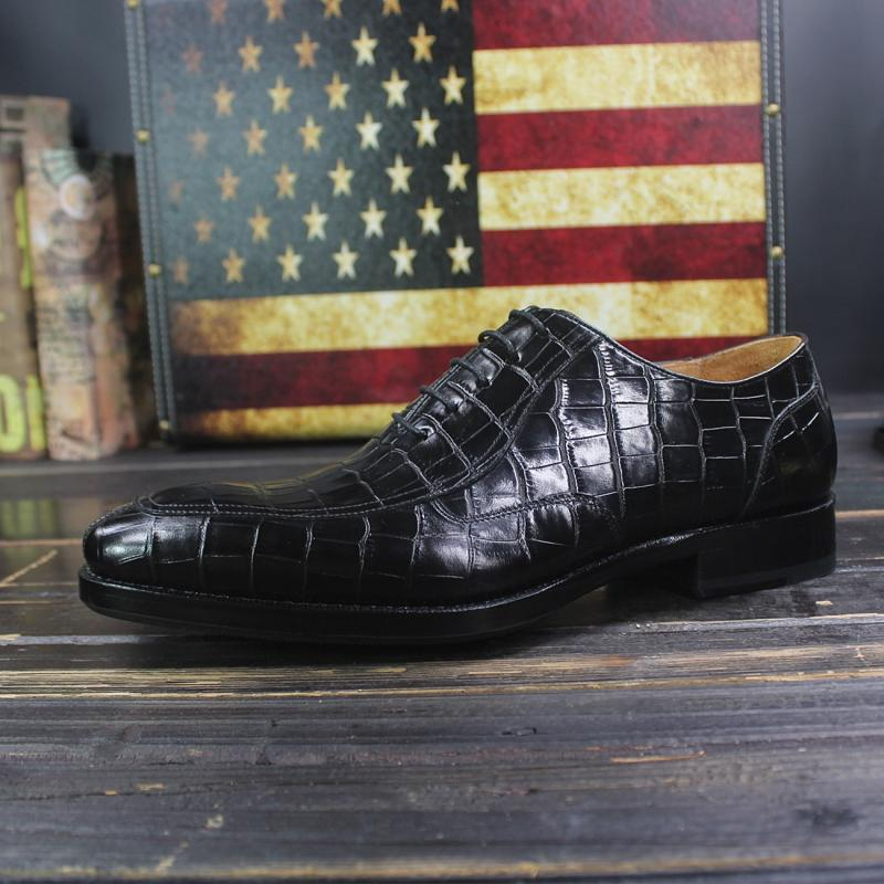 Sipriks الماركات المطبوعة التمساح أحذية رجالي يير مجلود اللباس أحذية مدرب الأعمال مكتب أوكسفورد أحذية للرجال الاجتماعية 46-في أحذية رسمية من أحذية على  مجموعة 3