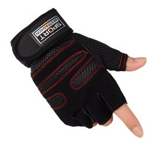 цена на Training Half-finger Gloves Breathable Outdoor Sports Cycling Gloves Men Anti-skidding Wear Resistant Body Building Gloves