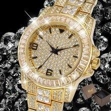 Role Of Men Top Luxury Brand Missfox Rolexable Waterproof Watch Man Watch Hublot Full Diamond Unisex Quartz Watch With Free Box