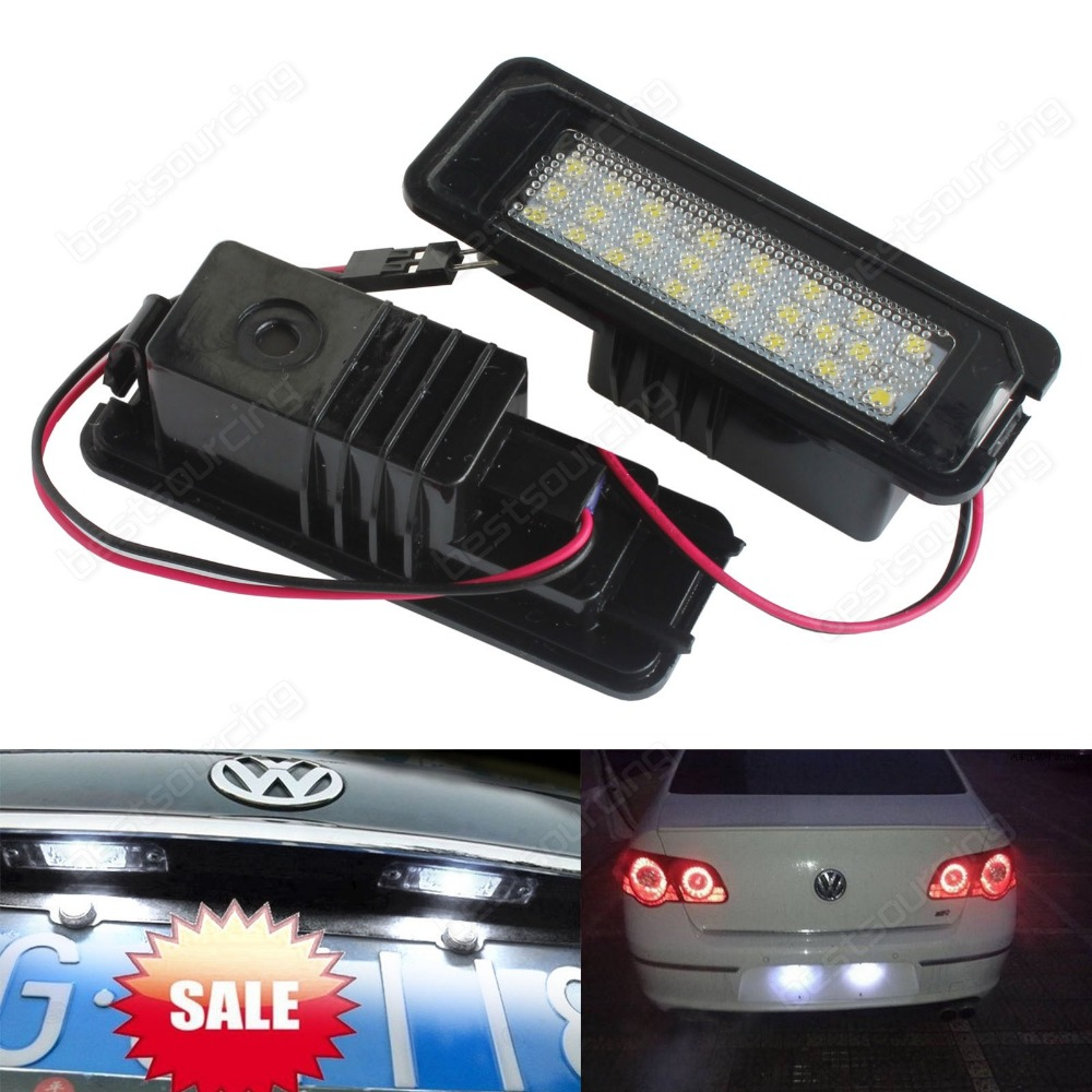 VW Golf GTI MK6 MK5 Passat Polo Scirocco LED Number Licence Plate Light No Error 06-09 Rabbit (CA198)