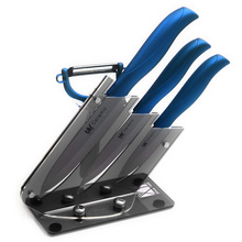 High Quality Acrylic Kitchen Knife Holder For 3″ 4″ 5″ Ceramic Knives+ Peeler XYJ Brand Five-Piece Set Kitchen Accessories