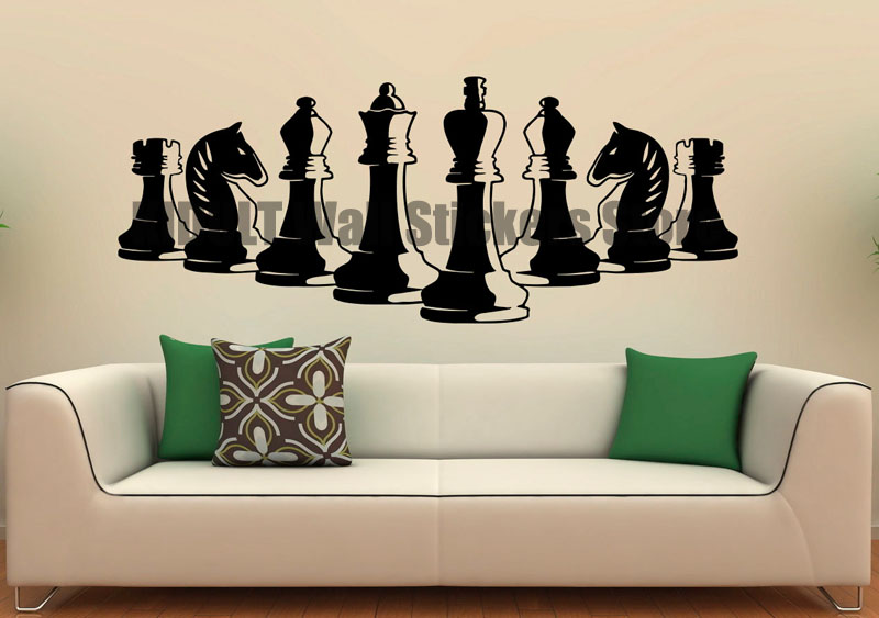 Piece Wall Stickers Vinyl-type Strategy Game Interior Design Art Mural Wall Decals Decorative Multicolor-size Bedroom