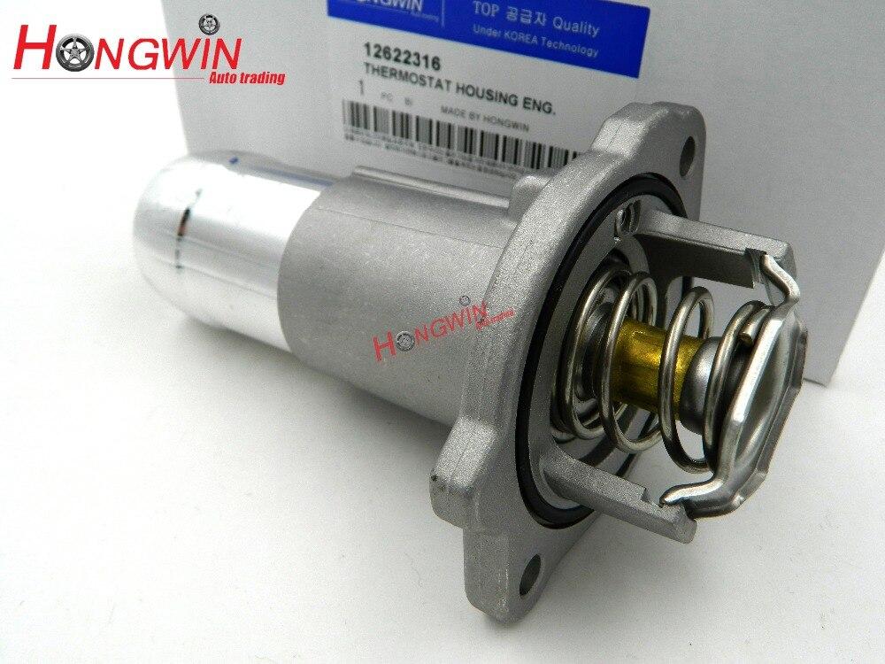 12622316 נוזל קירור מנוע רכב שיכון טרמוסטט עבור שברולט קולורדו & GMC קניון 04-12 Hummer H3 06-10 1511073/12620113