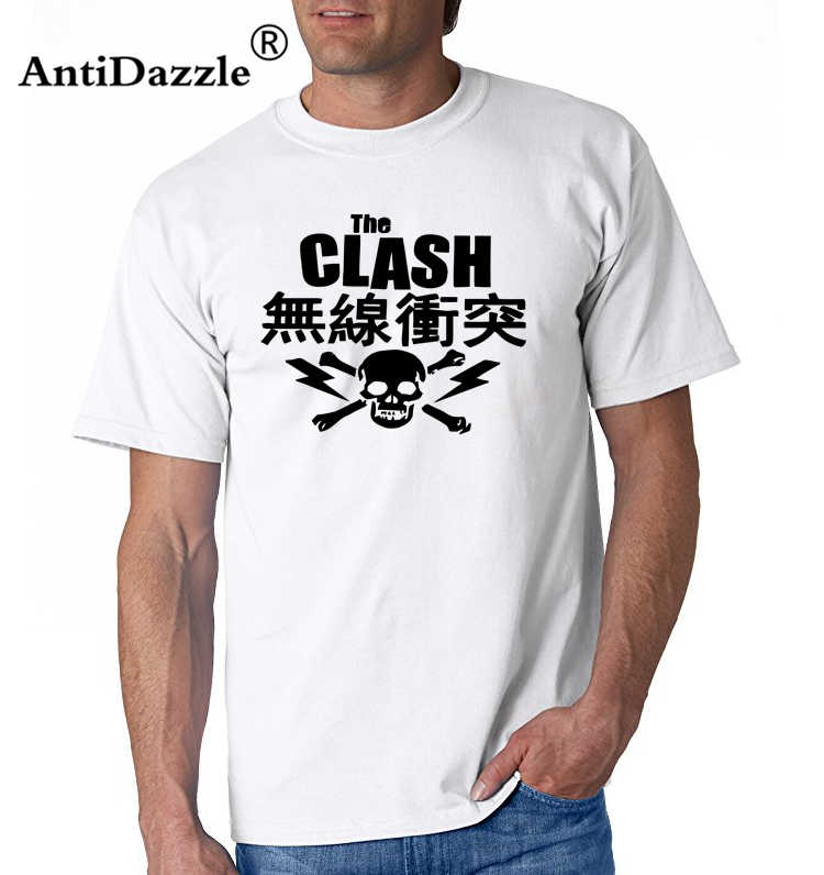 Antidazzle casual t-shirt Mode Mannen En Vrouw T-shirt De Clash Japanse Schedel T-Shirt-Ska Nieuwe Golf Punk Post punk