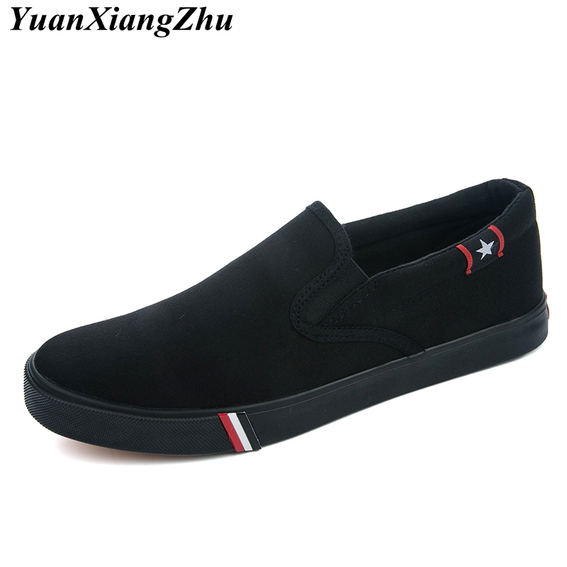 Image 4 - Men Canvas Shoes Simple Casual Mens Loafers 2019 Autumn High Quality Anti Slip Comfortable Vulcanized Shoes Man Flats Size 35 47-in Men's Casual Shoes from Shoes