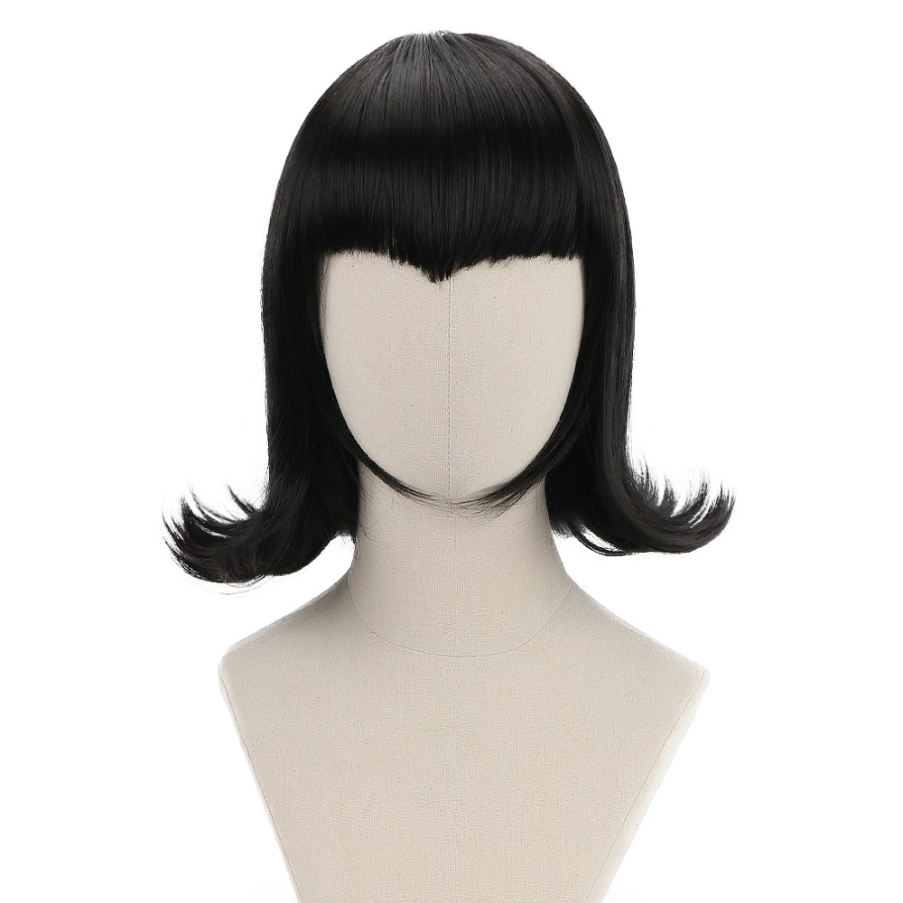 NEW Women/'s Short Hair Bob Wig Anime Halloween Cosplay Costume Gray Party
