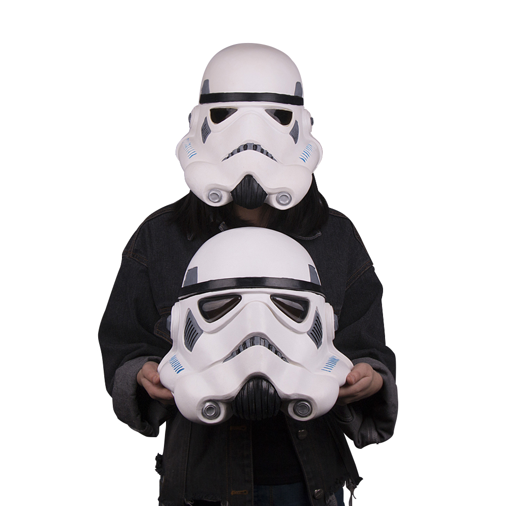 Cosplay Star Wars Mask Stormtrooper Latex Mask Soft  Helmet  Halloween Mask New