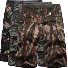 Camo Cargo Shorts Men 2019 Summer Fashion Mens Casual Camouflage Male Loose Fitness Work Man Military Short Pants