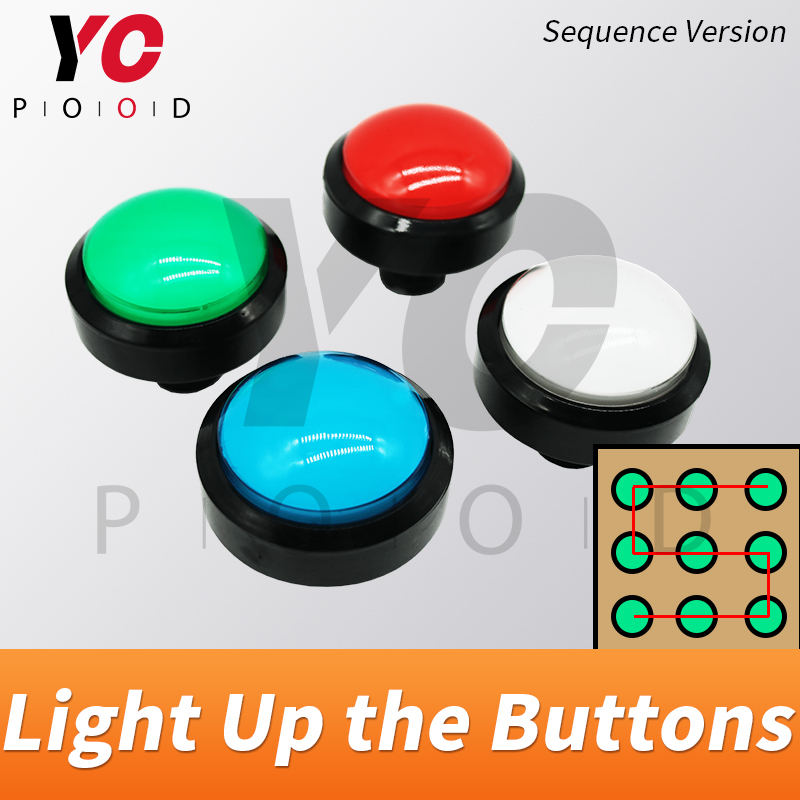 Several Colorful buttons Prop Escape room light up buttons in correct sequence to unlock real life game supplier YOPOOD buttonsSeveral Colorful buttons Prop Escape room light up buttons in correct sequence to unlock real life game supplier YOPOOD buttons