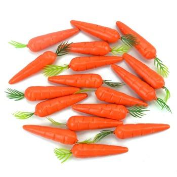 Tanie 80 sztuk 5cm marchew Mini sztuczne tworzywo sztuczne pianki marchew owoce i warzywa Berry ślub boże narodzenie rodzina kuchnia Decoratio tanie i dobre opinie Nanairo Carrot Plastic foam