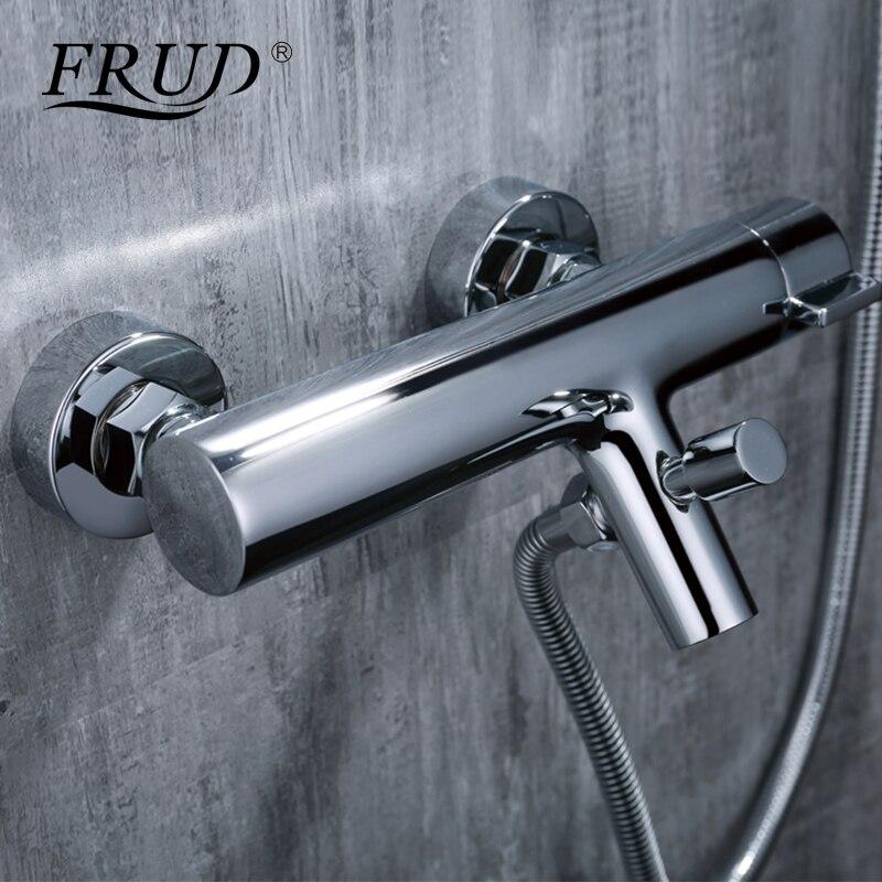 FRUD robinet de douche mural baignoire mitigeur robinet mitigeur salle de bain mitigeur Chrome fini douche mélangeur Y30005
