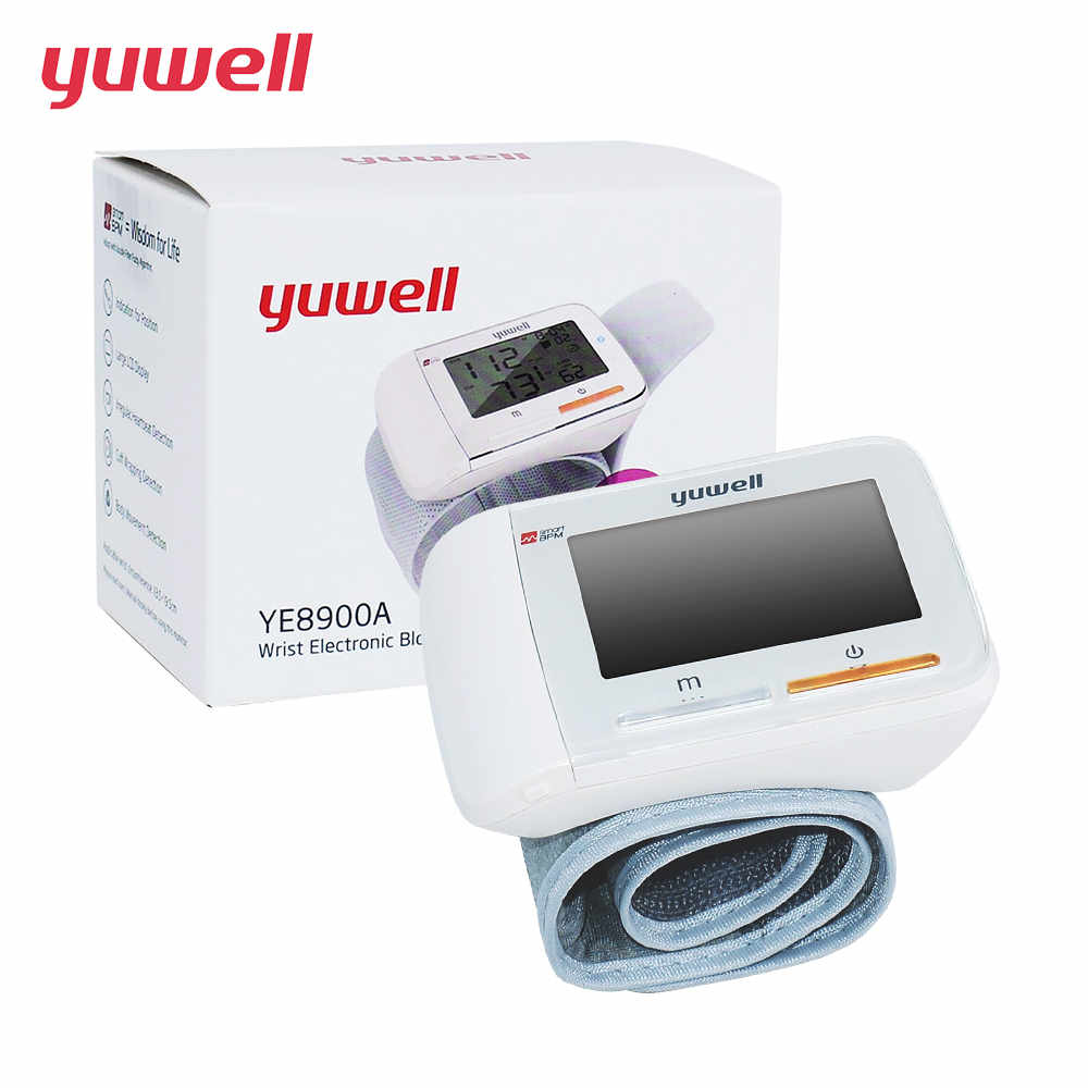 yuwell Wrist Blood Pressure Monitor Bi-color lights Health Care Memory 60 groups Medical ...