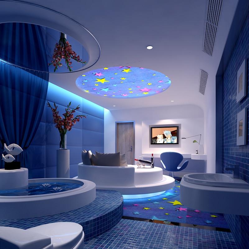 Beibehang custom total athlete bedroom ocean theme room for Total space design