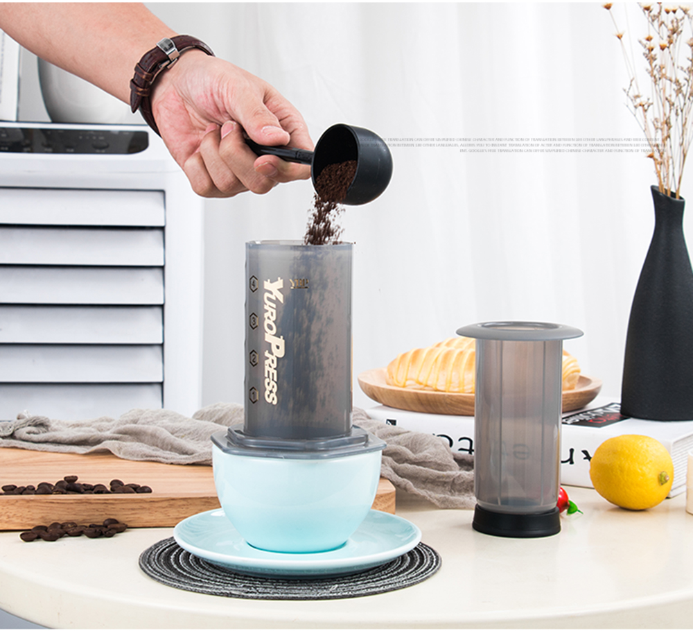 YRP YuroPress Portable Coffee Maker Espresso French Press barista tools Coffee Pot Air Press Drip Coffee Machine Filters Paper