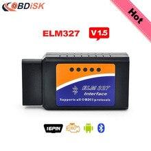 2017 Elm327 Bluetooth V1.5 BT adapter Works On Android Torque ELM 327 V 1.5 Interface OBD2 / OBD II Auto Car Diagnostic-Scanner