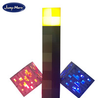 Light Up Minecraft Torch LED Night Wall Light Minecraft Design Toys Torch Hand Held Or Wall