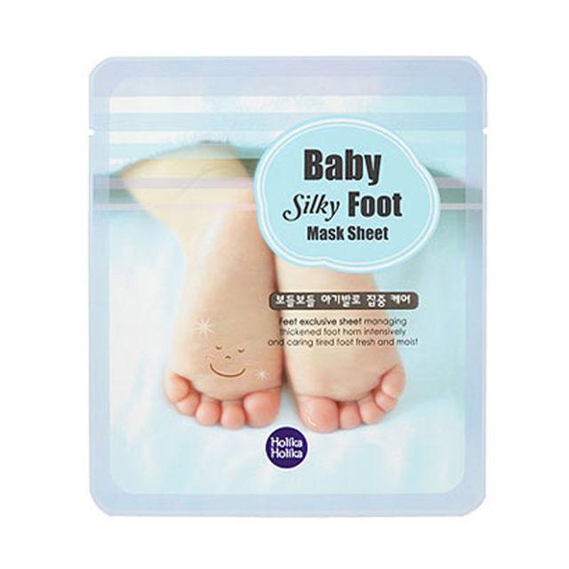 Holika holika ребенок шелковистой маска для ног лист ног пилинг обновление маска для ног удалить мертвую кожу гладкой отшелушивающий носки уход за ногами