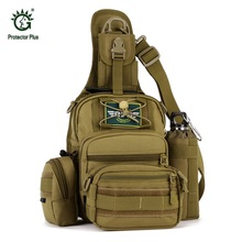 Military Tactical Backpack 4 in 1 Waterproof Outdoor Bag Travel Camping Hiking Trekking Bag Shoulder Sling Molle Pouch Day Pack