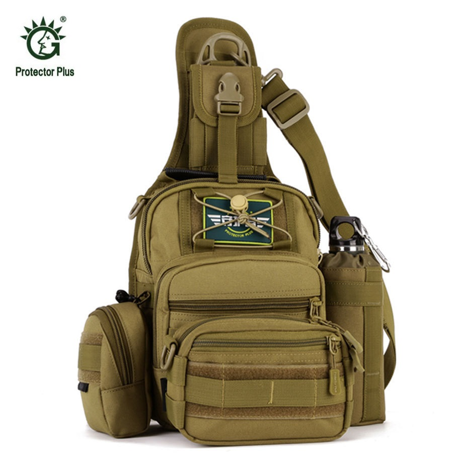 Military Tactical Backpack 4 in 1 Waterproof Outdoor Bag Travel Camping Hiking Trekking Bag Shoulder Sling Molle Pouch Day Pack lqarmy 3 day expandable backpack with waist pack large rucksack tactical backpack molle assault bag for day hiking tan